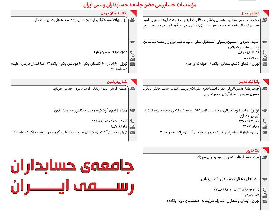 ویژهنامه جامعهی حسابداران رسمی ایران
