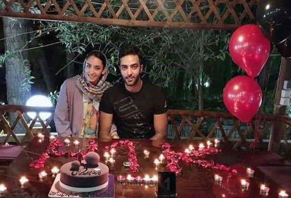 عکس کیمیا علیزاده در کنار همسرش