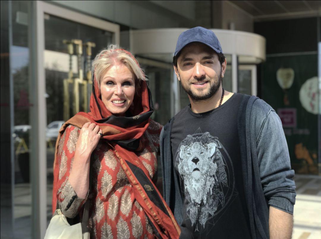 بهرام رادان در کنار بازیگر زن انگلیسی