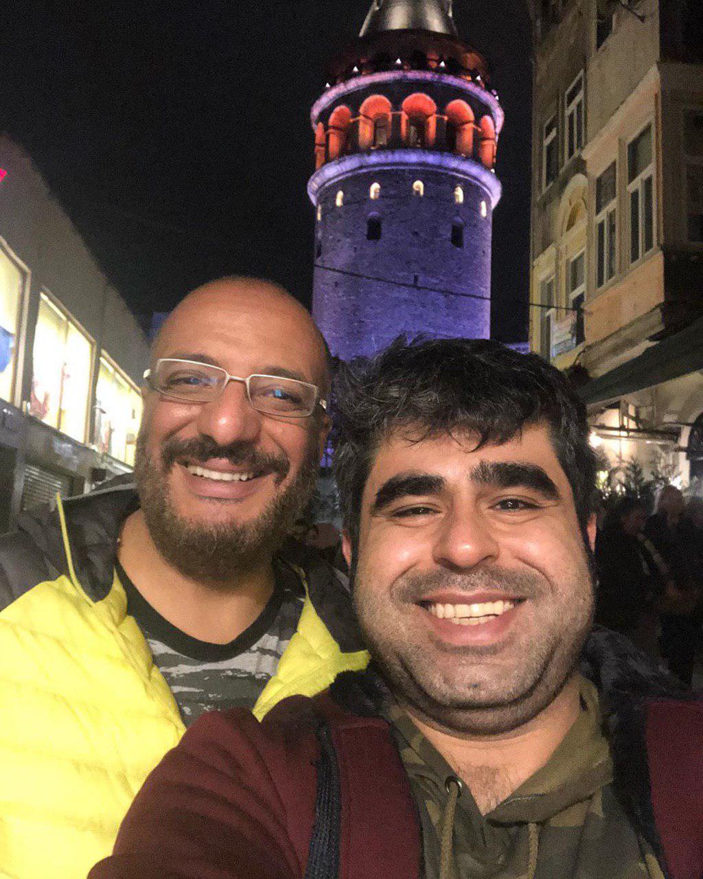 سلفی امیر نوری به همراه امیر جعفری در ترکیه
