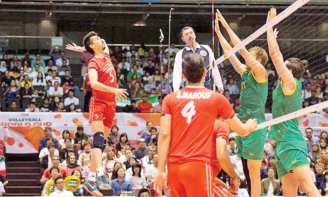 تقابل والیبال ایران با کانادا
