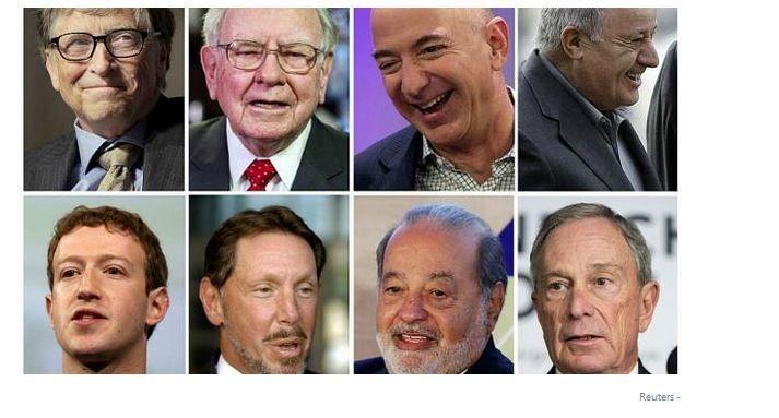 فهرست ثروتمندترین افراد جهان منتشر شد