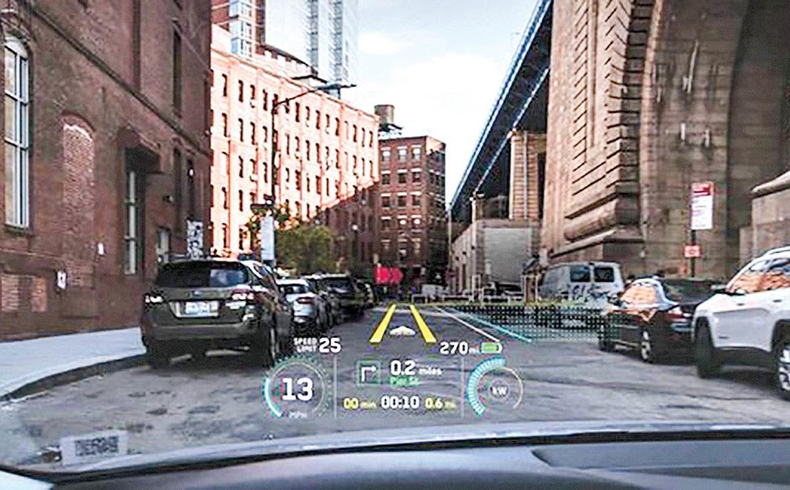 شیشه جلوی خودرو به نمایشگر واقعیت افزوده تبدیل میشود