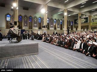 دیدار طلاب حوزههای علمیه با مقام معظم رهبری