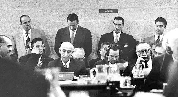 مصدق در جلسه شورای امنیت