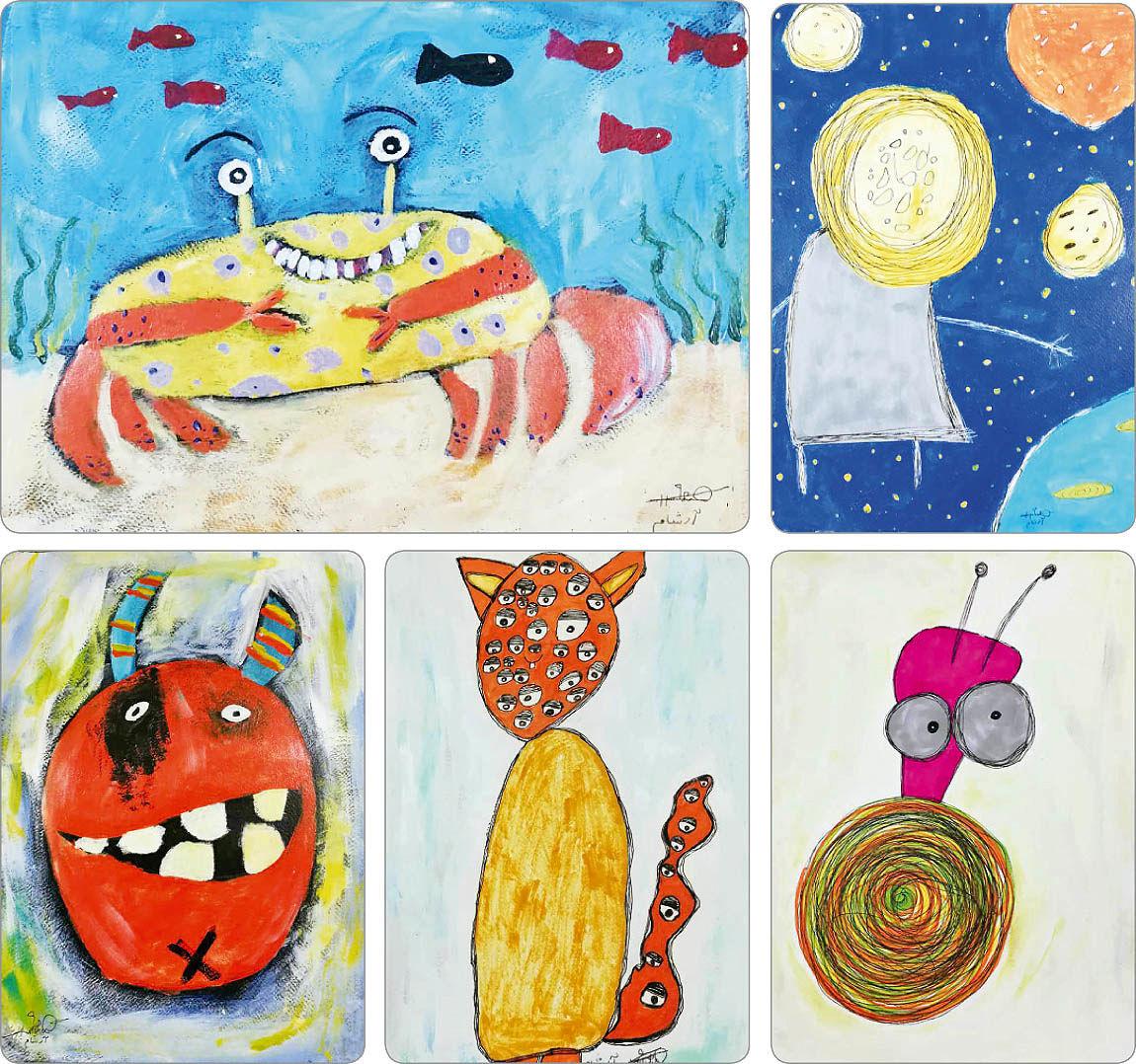 نمایشگاه تصویرسازیهای یک کودک هشت ساله