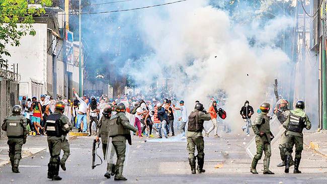نشانههای تزلزل در کاراکاس