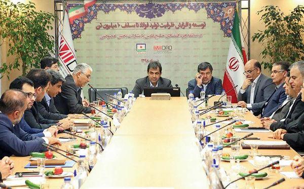 پروژه ملی ایجاد ظرفیت 10 میلیون تنی فولاد در حاشیه خلیجفارس