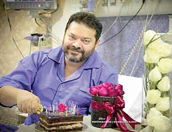 جشن تولد غلامرضا صنعتگر در بیمارستان