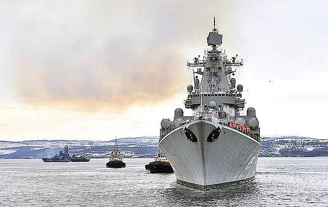 مانور قدرت پوتین در دریای مدیترانه