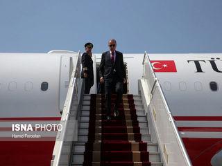 ورود رییس جمهور ترکیه به تهران