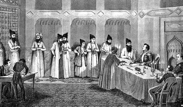 انعقاد عهدنامه گلستان