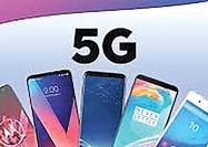پشتیبانی 20 درصد گوشیهای میانرده از 5G