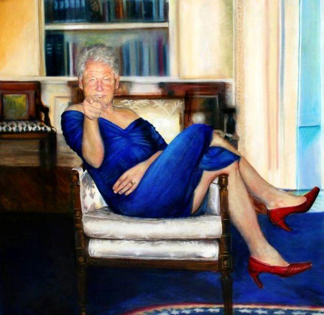 » بیل کلینتون، رئیسجمهور اسبق آمریکا با لباس زنانه