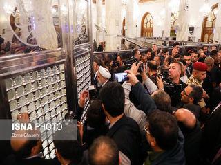 تصاویری از حضور رئیسجمهور در مسجد کوفه