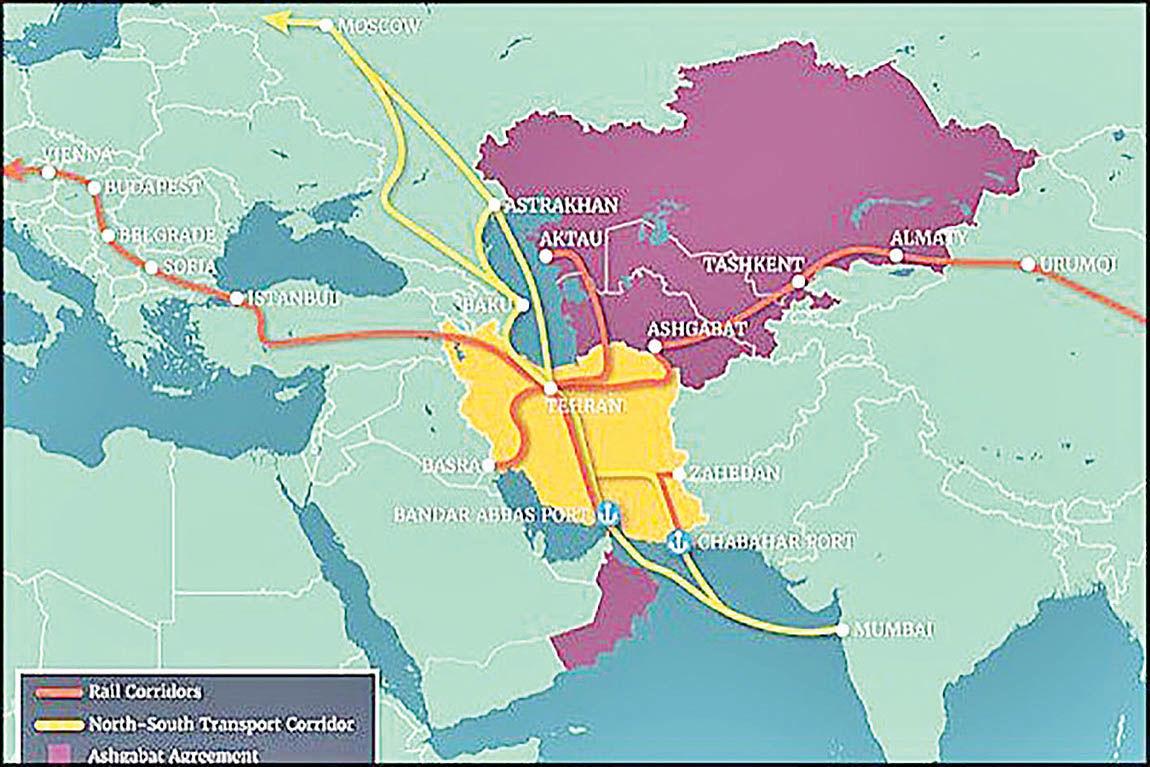 کریدور شمال- جنوب راهی برای اتصال ایران، روسیه و هند