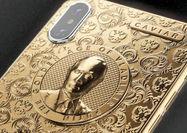 آیفون نسخه طلا با تصویر حکاکی شده پوتین