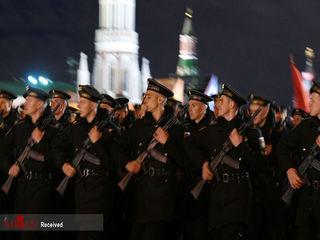 تمرین رژه پیروزی در میدان سرخ مسکو/عکس