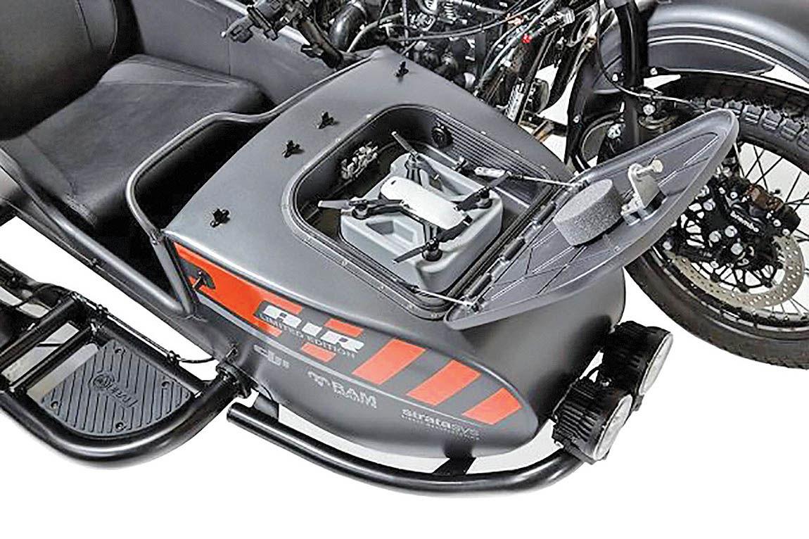 سکوی پرتاب پهپاد در موتورسیکلت