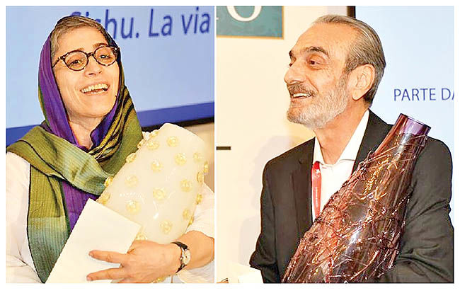 همایون ارشادی و آناهید آباد در ونیز جایزه گرفتند