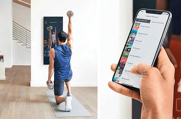 آینه هوشمندی که با شما ورزش میکند