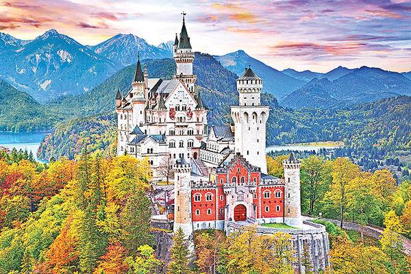 الگوی قلعه مشهور «زیبای خفته»