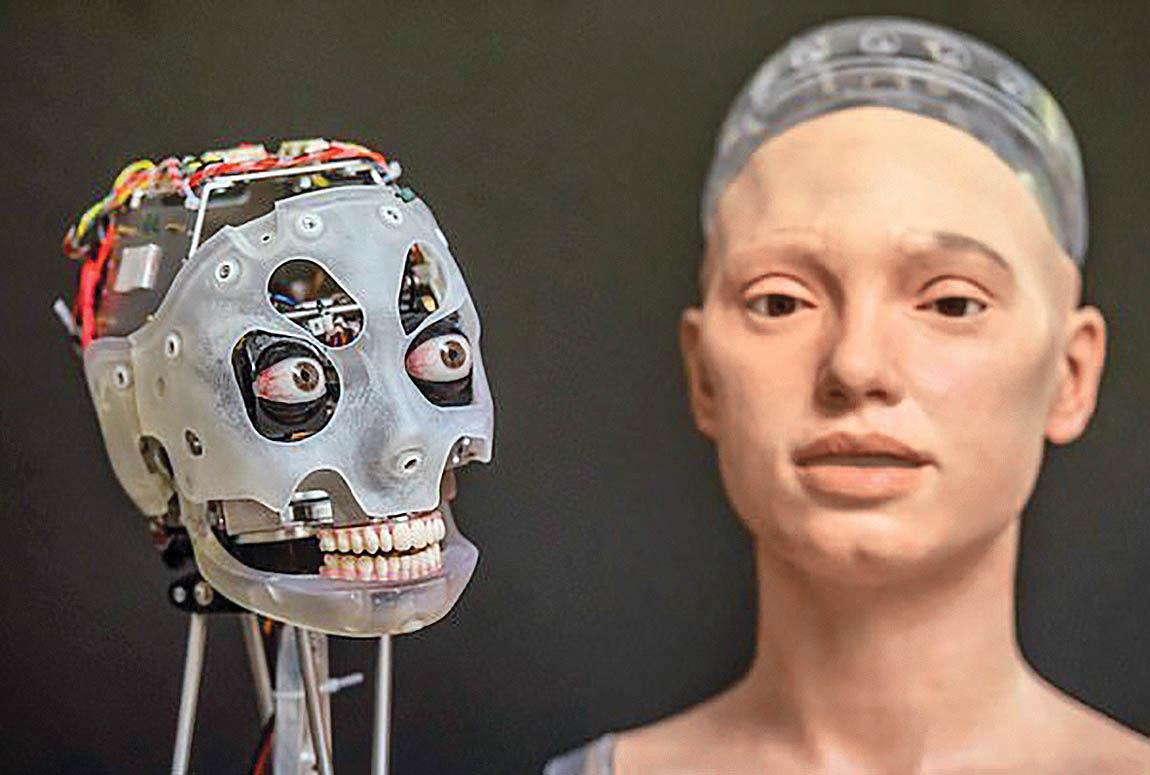 نخستین روبات هنرمند