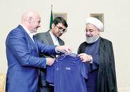 دیدار رئیس فدراسیون بینالمللی فوتبال با روحانی