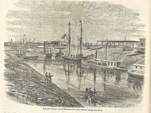 عملیات حفاری کانال سوئز