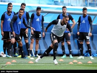 تصاویری از آخرین تمرین تیم ملی پیش از دیدار با مراکش