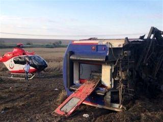 تلفات حادثه قطار در ترکیه