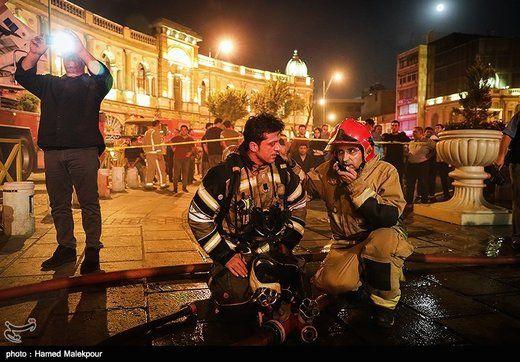آتشسوزی در میدان حسنآباد تهران